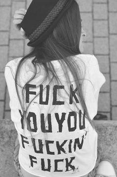 fuck you shirt