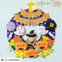 Moldes Halloween, Adornos Halloween, Cute Halloween, Halloween Cards, Felt Halloween Ornaments, Halloween Door Decorations, Felt Ornaments, Owl Sewing Patterns, Felt Crafts Patterns