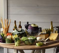 The Vegetable Feast- Need the workbook for this one! Divine for winter   a Thanksgiving table laden with serving pieces and centerpieces fashioned out of heads of cabbage, turnips and ornamental kale.