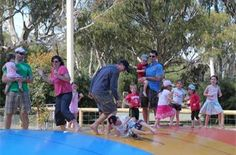 You can spend a couple of hours jumping on the pillow (while Mum & Dad relax on the riverfront), splash around in the Water Park (Mum & Dad still relaxing), play at the playground, a round of 18 holes at our mini golf course, ride the pedal Go-Karts or a hit of tennis? Or if movie nights are happening relax and enjoy the open air show (weather permitting) Board games to borrow and holidays brings lots of activities. #big4deni #holiday #holiday with kids #holidaywithdogs #caravaning #family