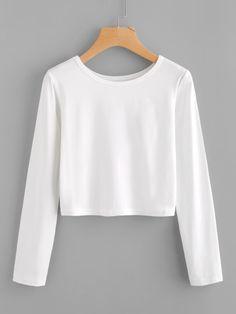 Camiseta básica con manga larga