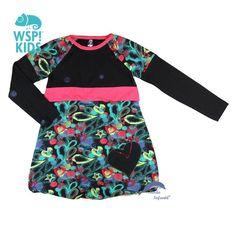 Vestido de niña WSPKIDS manga larga tipo bombacho estampado
