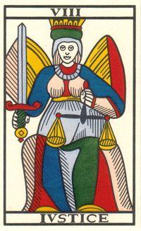 Tarot de Jean Noblet, VIII Ivstice, JC Flornoy restauration