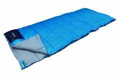 High Peak Ceduna - Saco de dormir, tamaño 200 x 80 cm, color azul / azul oscuro