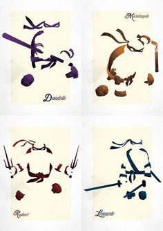 Set of 4 TMNT inspired prints by 17thandOak on Etsy, £60.00