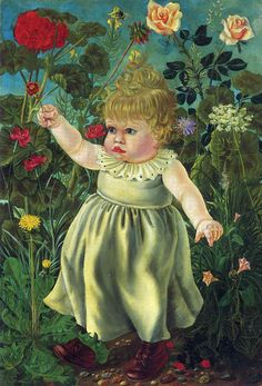 Nelly with Toy - Otto Dix, Germany, 1923. Lent to new objectivity expressionism era.