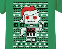 Santa's Dancing Robot Ugly Christmas Sweater Infant-Toddler Short Sleeve T-Shirt
