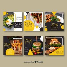 Download Collection Of Card Template With Food Concept for