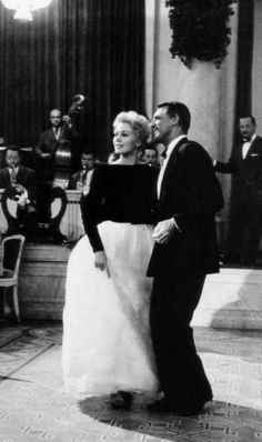 Cary Grant & Kim Novak dancing at the Cannes Film Festival