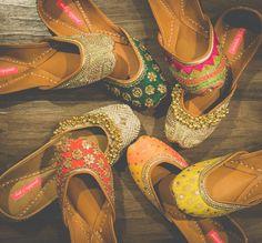 bridal juttis,  ghungroo juttis, colorful shoes, indian shoes