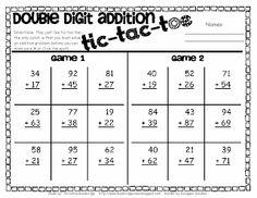 Classroom Freebies: Double Digit Addition Freebie