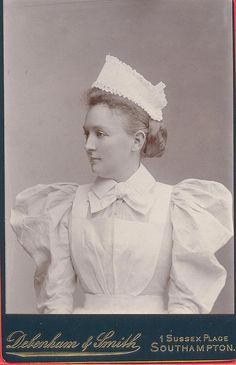 Southampton Nurse; Delightfully flouncy uniform circa late 1890's