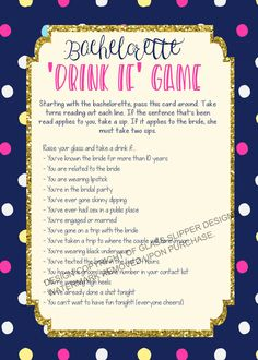 Printable bachelorette game/ bachelorette drinking game / bachelorette party game / drink if game / take a sip game / Spade bachelorette by PrettyPrintablesInk on Etsy