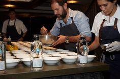 Chef Enrique Olvera & Chef Elena Reygadas at the one-year anniversary of Cosme NYC.