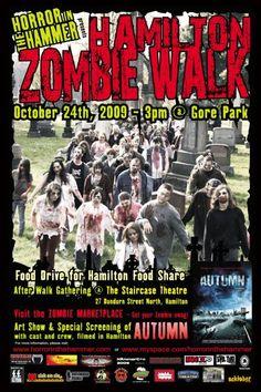 Zombie walk flyer