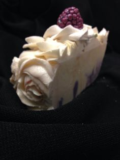 Black Raspberry Vanilla - Romantic Roses goat's milk artisan soap.  Shapfield Farm's Soap Suds