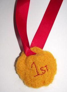 Felted Medal