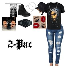 """2-Pac"" by winterqueendymond on Polyvore featuring Michael Kors, Timberland and Melissa Odabash"