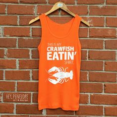 NEW Fitted Crawfish Eatin' Ladies Tank by HeyPenelopeDesign