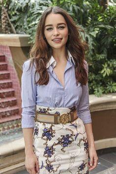 Emilia Clark in Altuzarra - Derek Blasberg's Weekly Best Dressed List - Harper's BAZAAR. I love her.