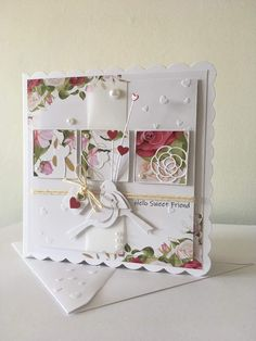 Birthday Cards For Women, Handmade Birthday Cards, Die Cut Cards, Bird Cards, Pretty Cards, Flower Cards, Wedding Cards, Thank You Cards, Cardmaking