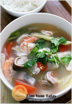 Tom Yum Talay (Hot And Sour Seafood Soup) @Ellena | Cuisine Paradise