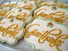 Oh Sugar Events: Thanksgiving Cookies (edible thanksgiving treats) Fall Decorated Cookies, Fall Cookies, Iced Cookies, Cute Cookies, Easter Cookies, Royal Icing Cookies, Cupcake Cookies, Cupcakes, Thanksgiving Cookies