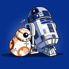 Droid Hug T-Shirt Star Wars TeeTurtle