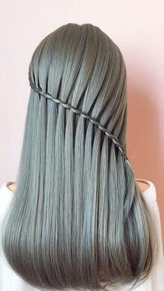 #braidstyles #hairideas #hairvideos #braidedhair #videotutorial #hairstyles Easy Hairstyles For Long Hair, Braided Hairstyles Tutorials, Elegant Hairstyles, Diy Hairstyles, Updo Hairstyle, Wedding Hairstyles, Medium Hair Styles, Curly Hair Styles, Waterfall Twist