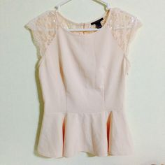Forever 21 Tops - F21 Lace Peplum Top