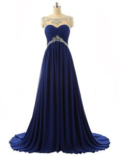 Sparkling Embellished Bridesmaid Prom Ball Evening Dresses