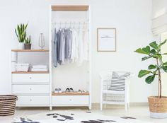 Making room for guests with the ELVARLI open storage unit by IKEA by www.houseofhawkes.com