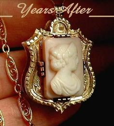 RARE Antique Georgian VICTORIAN Cameo HAIR Locket NECKLACE from yearsafter on Ruby Lane