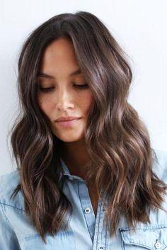 Ways to Style Brown Medium Hair: Stunning Medium Length Hairstyles - Hair - Hair Styles Medium Hair Cuts, Medium Length Haircuts, Curls For Medium Length Hair, Medium Thick Hair, Thin Hair, Medium Length Cuts, Haircut Medium, Medium Hair Length Styles, Medium Dark Brown Hair