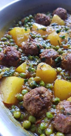Tajine de viande hachée, petits pois et pommes de terre - My tasty cuisine
