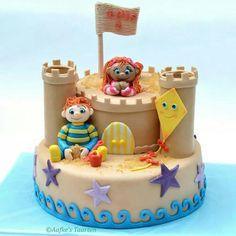 Het zandkasteel taart