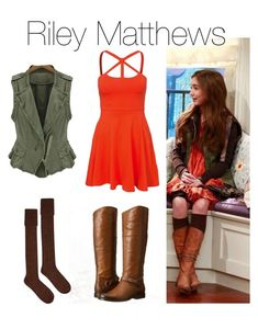 """""""Riley Matthews"""" by rainbowsnowcone ❤ liked on Polyvore featuring New Look and Frye"""
