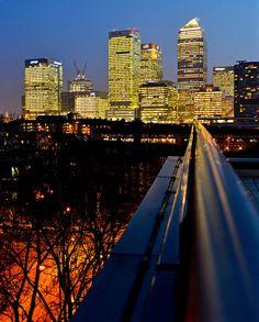 Canary Wharf Lights by Doolallyally, via Flickr, London, UK