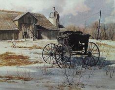 Vintage OLSEN'S BUGGY Fine Art Watercolor by PansyRoadVintage, $10.00