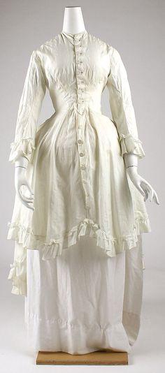 Dress (Robe à la Polonaise), white  Date: 1880s Culture: American or European Medium: cotton  Metropolitan Museum of Art