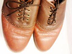 H.S. TRASK Mens 10.5 N Oxfords Walking Shoes US Bison Hide, Brown