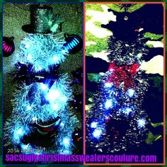 """""""Mr & Mrs Snow"""" custom ordered for a surprise ugly Christmas bridal shower."""