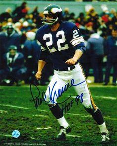"""Autographed Paul Krause Minnesota Vikings 8x10 Photo Inscribed """"""""HOF 98"""""""""""