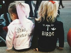 "Pink Ladies & ""T"" Birds. Sandy from Grease. Halloween costume DIY"