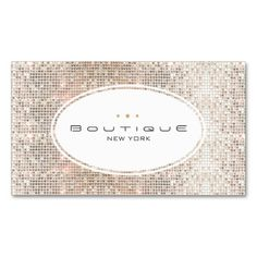 Fun and Cute Fashion Boutique Faux Silver Sequins Business Cards. This great business card design is available for customization. All text style, colors, sizes can be modified to fit your needs. Just click the image to learn more!