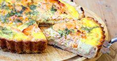 Recette de Quiche sans pâte au saumon, tarama et aneth. Facile et rapide à réaliser, goûteuse et diététique. Ingrédients, préparation et recettes associées.