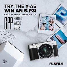 EXCLUSIVELY at Gulf Photo Plus Photo Week  Calling all fashion and lifestyle bloggers and fans be the first to test and try the new Fujifilm X-A5 with the chance to win an instax SP-3 printer!  How to enter: (1) Come and say Hi! to the team at the Fujifilm booth  (2) Take a selfie with the new X-A5 camera  (3) Print the photo directly from the X-A5 to the instax S-P3 printer  (4) Download and share your X-A5 photo or take a photo of your instax print and submit your #FujifilmXA5Selfie to…