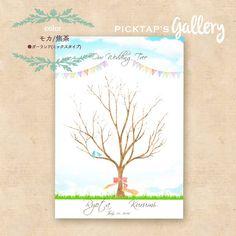 【AOZORA】 幸せの青い鳥 B4サイズ ウェディングツリー 台紙