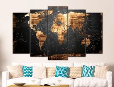 High Quality Prints Wall Art on Canvas / Home Decor by CanvasMafia Poster Mural, Art Mural, World Map Wall Art, Wall Maps, Toile Photo, Office Canvas, Wall Art Prints, Canvas Prints, Senior Home Care