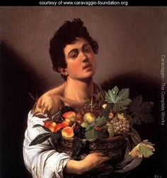Boy with a Basket of Fruit Caravaggio Italian 1571-1610 c. 1593 Baroque Oil on canvas Galleria Borghese, Rome